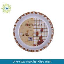 round food plastic plate