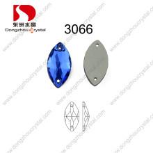 Navette Form annähen Glasstein für Braut Kleid Capri Blue Dz-3066