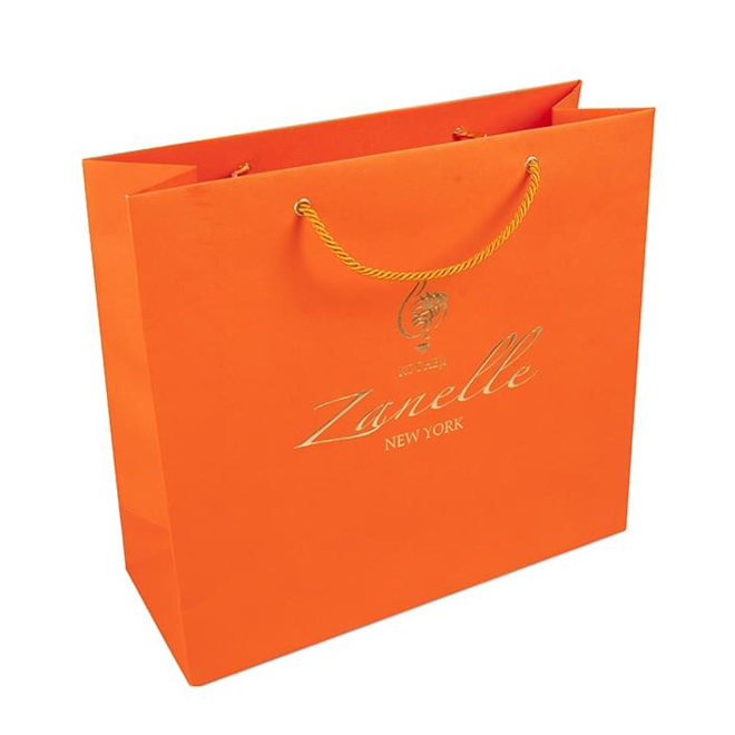 paper shopping bag with PP handle