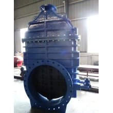 Resilient Gate Valve, DIN3352 F4 F5, with by Pass Valve, Gearbox with Top Flange ISO5210