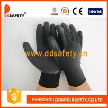 Нейлоновые / полиэфирные латексные латексные перчатки из морщин (DNL119)