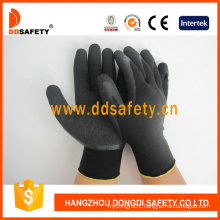 Nylon/Polyester Liner Latex Crinkle Gloves Dnl119
