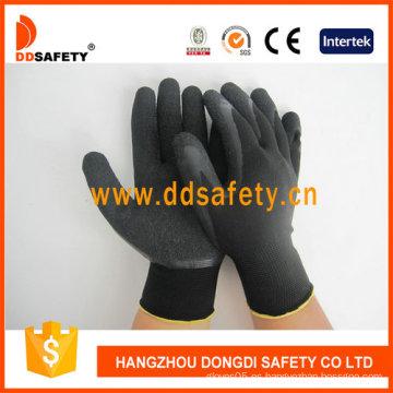 Nylon / Polyester Liner guantes de látex de arrugas (DNL119)