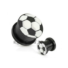 Großhandel Flexible 3D Fußball Silikon Ohr Piercing