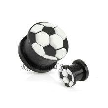 Piercing flexível por atacado da orelha do silicone da bola de futebol 3D