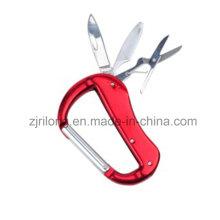 Outil multifonctionnel à engrenage en croûte à mousqueton en aluminium