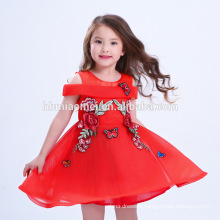 Best Price Beautiful Red Embroidered Chinese Style Dress Big Girl Party Frocks