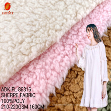 Cheap high quality wholesale 100 polyester sherpa flannel fabric changshu baoyujia sleepwear fabric and textiles for clothing