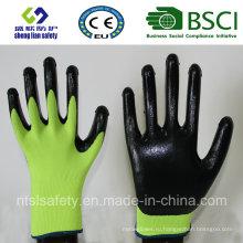13Г полиэфира оболочки Нитрила покрытием перчатки работы (сл-110-Ю)