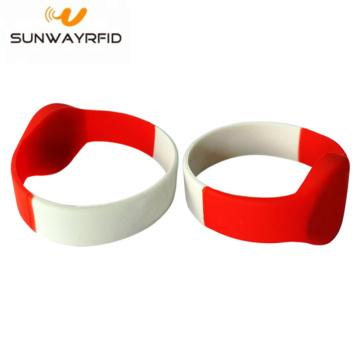 13.56MHZ MIFARE impermeável DESFire EV1 8K pulseira de silicone