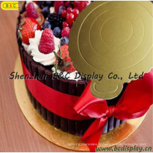 Belle et la mode Masonit gâteau, Mini plateau à gâteau avec l'utilisation de la FDA (B & C-K068)