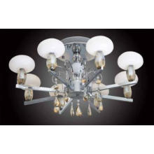semi-pendant lamp with milky glass shade,simple and elega,