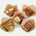 Custom printing paper disposable food containers lunch boxes