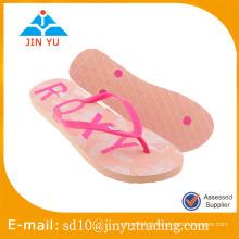 2016 nouveau style Chine usine prix dame taille PE semelle extérieure pvc supérieure Flip Flop sandale zapatilla