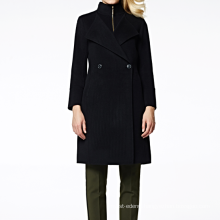 17PKCSC005 women double layer 100% cashmere wool coat