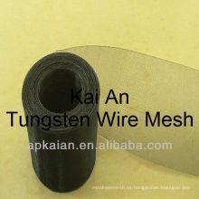 Malla de alambre tejido de tungsteno