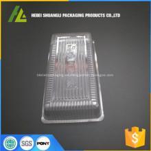 bandeja de galletas de plástico transparente