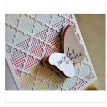 2015 o cartão de casamento de Lasest para o propósito dos agradecimentos com borboleta