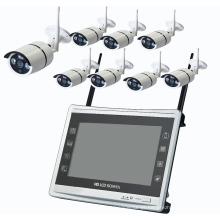 8 CH 11.0 polegada monitor lcd ip câmera dia visão noturna wi-fi sem fio kit de câmera de cctv