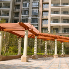 Durable Outdoor Composite Recycle WPC Pergola -- Customized Size
