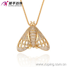 32242 Xuping diseños especiales colgante animal abeja popular al por mayor de oro falso que cubre joyas