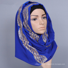 gemischter fester reiner Fantasieschalgroßhandelsschöner Damen arabischer moslemischer Hijab