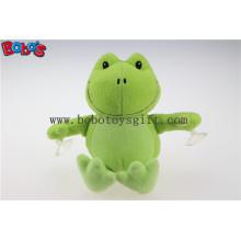 Preço competitivo personalizado Plush brinquedos animais rã verde com copos de sucção plástica Bos1138
