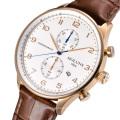 Einfache Art- und Weisegeschäftsquarz-Uhr mit Multifunktions-wasserdichtem Sport-Geschäfts-Leder-Bügel-Uhr alle Vorwahlknopf-Arbeiten