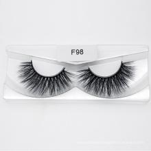 Wholesale Natural Faux Mink Lash Custom Packaging Synthetic Hair False 3D 5D 25mm Eye Lashes