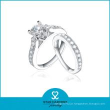 2015 amor casal 925 anel de prata esterlina com sorte (r-0573)