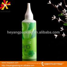 D45 Tubo de plástico de 120ml con tapas roscadas adhesivas