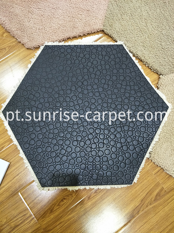 Shaggy carpet tile with TPE Backing