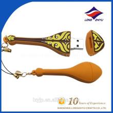 Gitarren-Form PVC-USB-Kabel-Blitz-Antriebs-Schlüsselkette