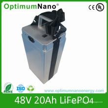 Batterie de scooter de LiFePO4 48V 20ah de prix usine avec BMS