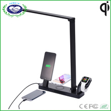 4 в 1 Multifuncational Qi беспроводной зарядное устройство Pad + LED Настольная лампа + беспроводной Smart Watch Зарядное устройство + USB зарядное устройство для iPhone и Apple Watch