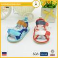 2015 summer cotton fabric barefoot gladiator baby sandal