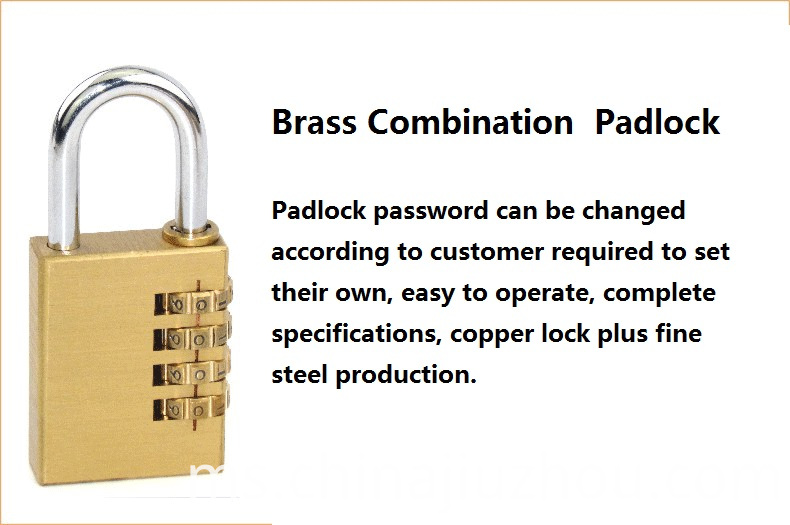 Large Combination Brass Lock