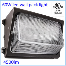 Competitive price cUL led wall pack light 60w