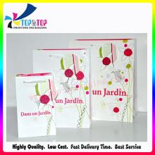 Carry Strap bolsa de papel blanco brillante con la impresión