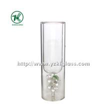 Garrafa de vidro da água da parede dobro (diâmetro: 5 * 16 110ML)