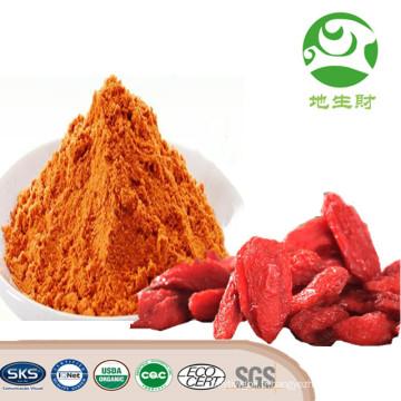 Chine Poudre organique saine de jus de baie de Goji d'approvisionnement d'usine, poudre de haute qualité de jus de baie de Goji, extrait de wolfberry