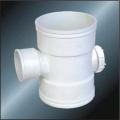 BS5255 / 4514 Drenagem Upvc Reduzindo Tee Back Door Grey