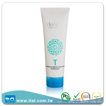 Eco-friendly cosmetic collapsible plastic round packaging tube for glue