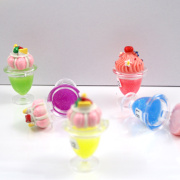 O Cupcake colorido multi cor escolher protetor labial