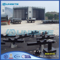 Steel flooring pontoon for marine construction