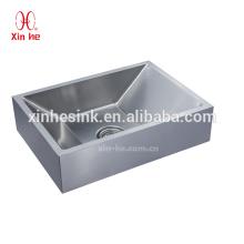 Cobre de cobre amarillo modificado para requisitos particulares / lavabo de lavabo plateado acero inoxidable 304, fregadero de baño comercial