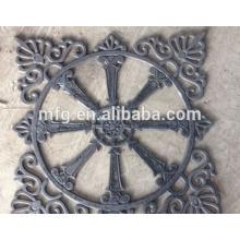 Iron cast parts fence parts/ cast iron ornaments design for decoration