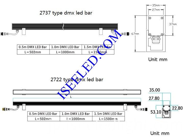 DMX512 Pixel RGB Bar Lights