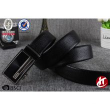 Echtes Leder schwarze Ledergürtel in koreanischer Mode