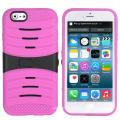 Cas robuste de téléphone de Kickstand d'impact rocailleux pour l'iPhone 6 plus